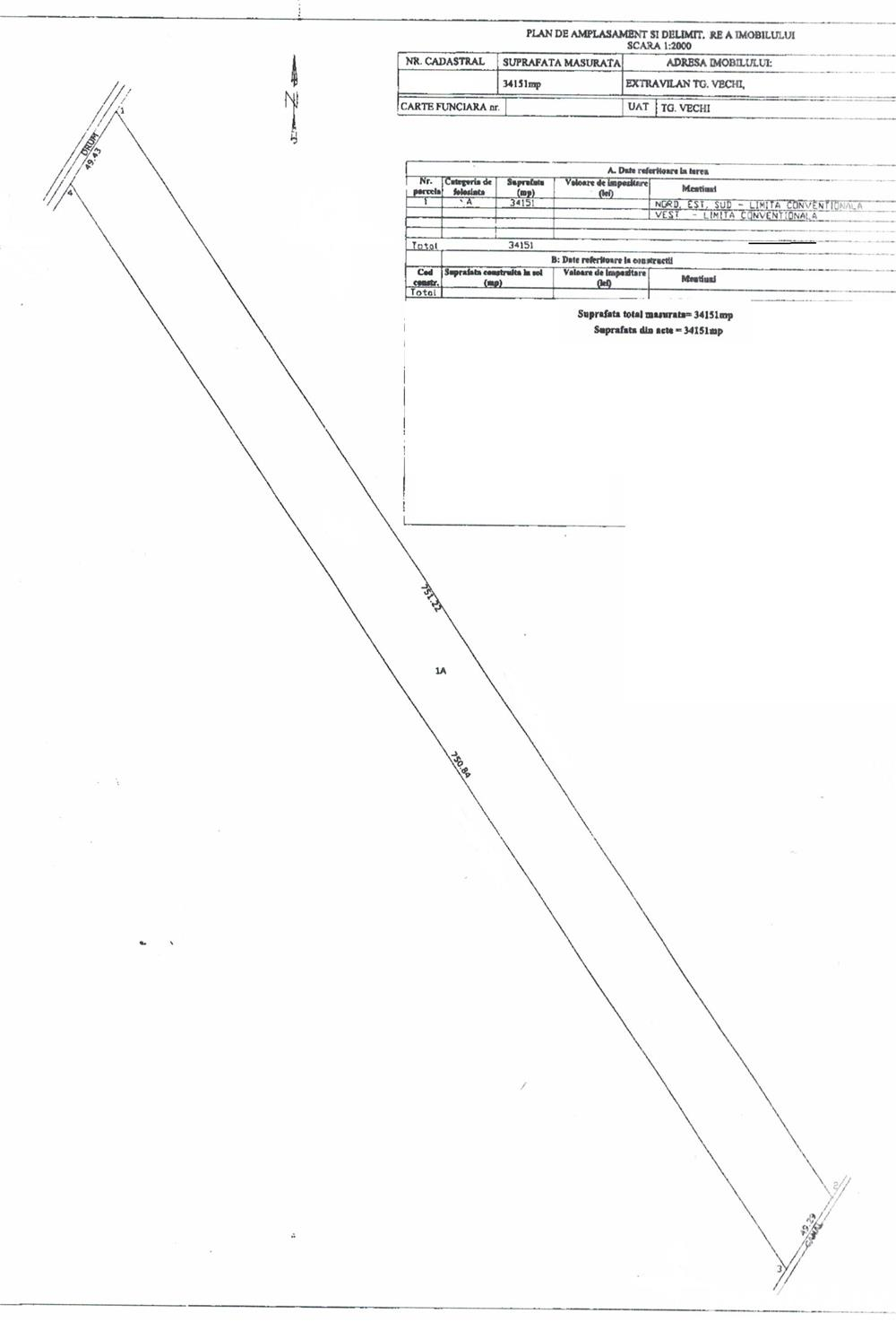 Strejnicu extravilan 34151 mp