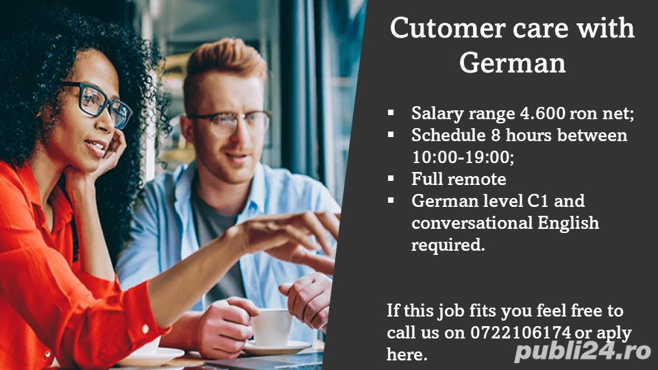 Customer care specialist with German