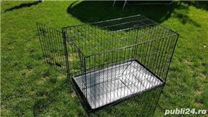 Cușcă din metal pliabila pentru câini - imagine 6