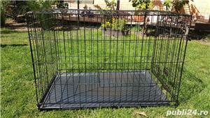 Cușcă din metal pliabila pentru câini - imagine 5