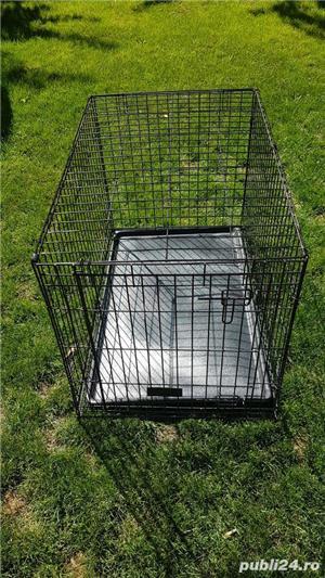 Cușcă din metal pliabila pentru câini - imagine 3
