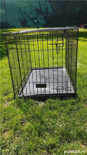 Cușcă din metal pliabila pentru câini - imagine 7