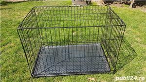 Cușcă din metal pliabila pentru câini - imagine 4