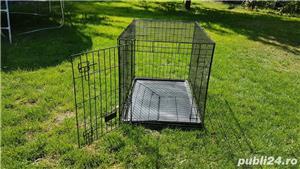 Cușcă din metal pliabila pentru câini - imagine 2