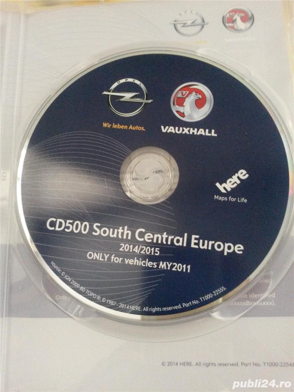Harta navi pentru OPEL cu CD 500 (Romania 2015) !!!