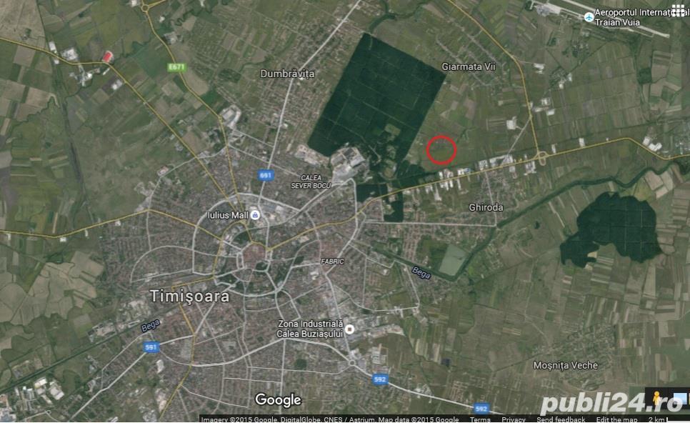Teren excelent pentru cartier rezidential, la Padurea Verde Timisoara