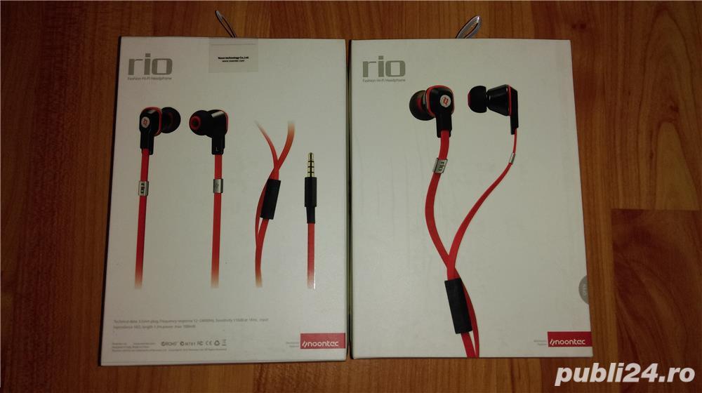 Casti hands-free Noontec Rio Hi-Fi In Ear Cu Microfon Mf3117(W) / Sigilate !