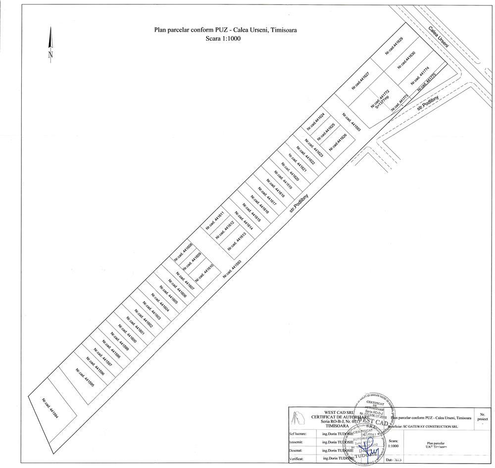 VIND parcele 340-380 mp toate utilitatile BRAYTIM- str. Iuliu Podlipny Timisoara 100 Eur/m2