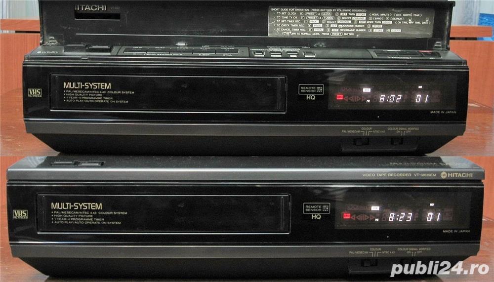 Videorecorder (VHS) Hitachi VT-M619EM, made in Japan, defect, pentru piese