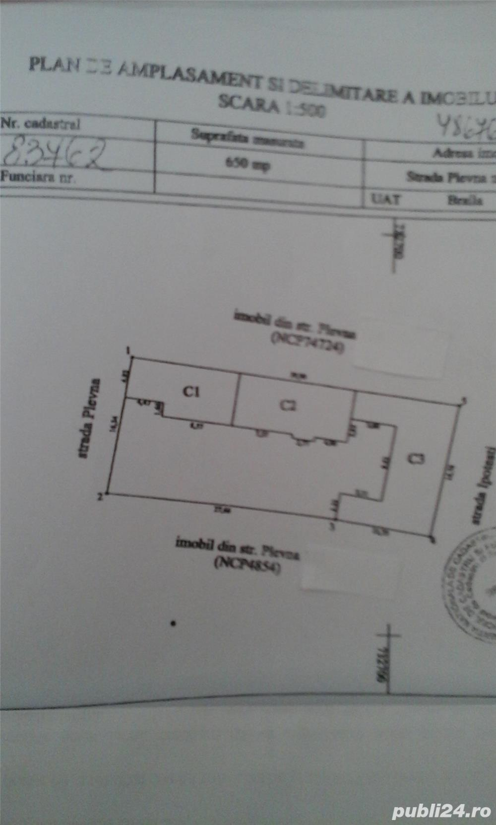 Ultracentral, teren 650 metri patrati (posibil 325+325), 100 000 euro negociabil