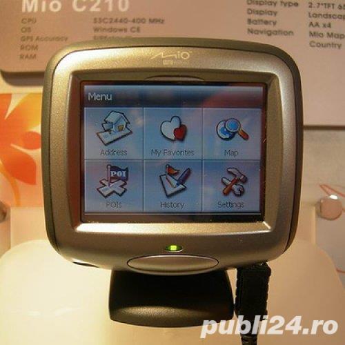 GPS Mio C210 TMC aspect, functionare Ok