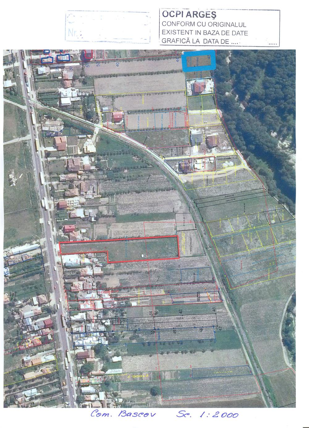 teren intravilan stradal Pitesti-Bascov DN7/E81 imprejmuit/utilitati