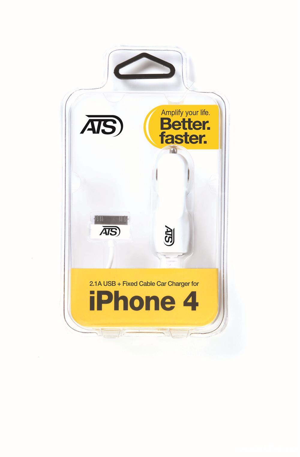 Incarcator auto ATS dual USB  iPhone 4/4s  / 5.0V , 2A