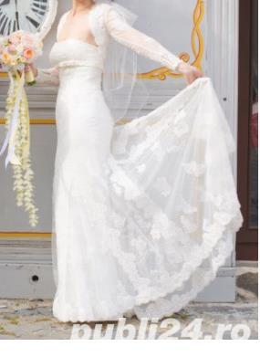 PRONOVIAS Barcelona - White One Tango - Rochie de mireasa Originala, marime 36