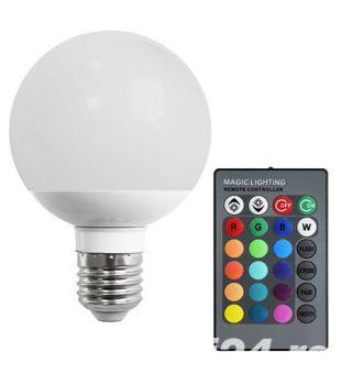 Bec LED 10W E27 RGB cu telecomanda