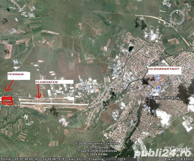 Ter.Industrial ( total 5,33 Ha ):20000mp+23300mp PUZ+10000mp (f.puz)desch.270ml DN1 Sibiu-Cristian