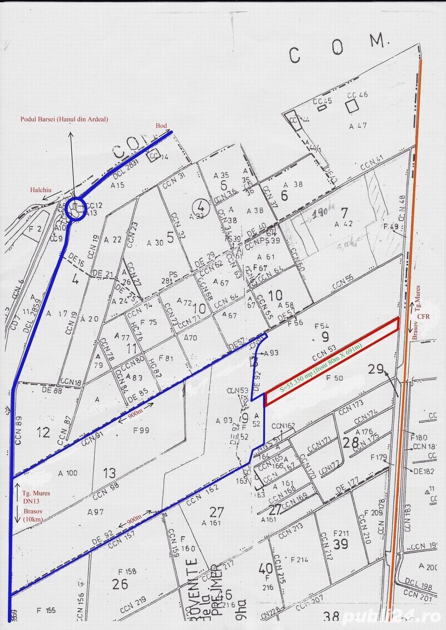teren intravilan industrial 55350mp Brasov DN13/E60 Calea Feldioarei