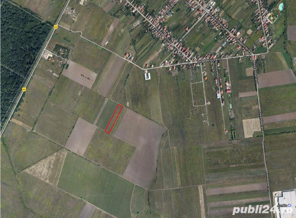 Teren vanzare Giarmata Vii (6km de centrul Timisoarei)