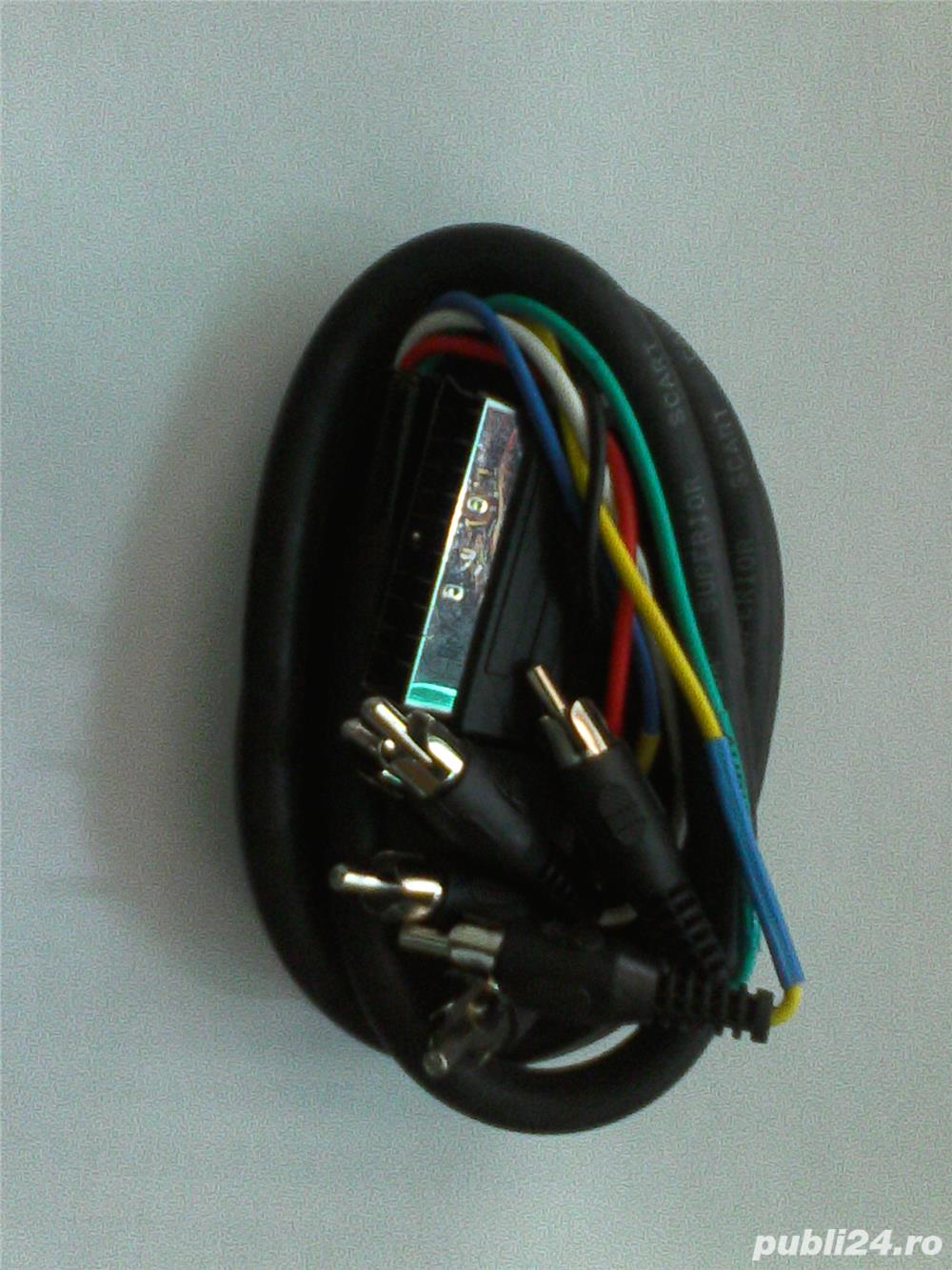 Cablu Scart -Rca 6 mufe audio video. 7 BUC.