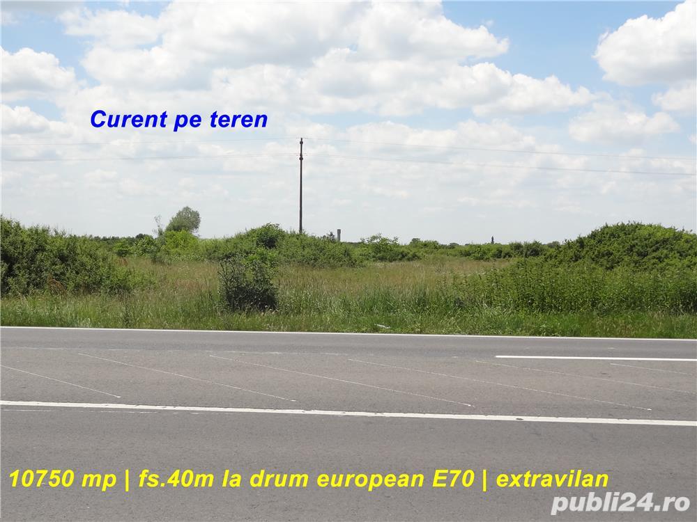 Teren 10.750 mp cu front la drum european si curent trifazic in dreptul localitatii Padureni