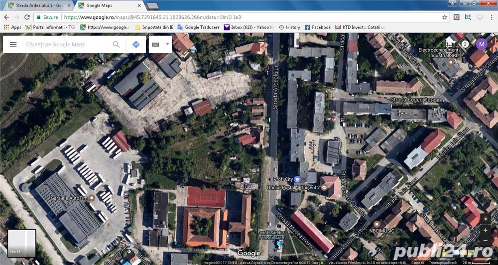2873 mp teren cu PUZ pentru blocuri, clinica, supermarket , case etc. Linga liceul AUTO