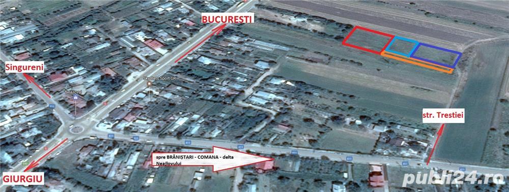 Teren intravilan construibil 2.600mp in Calugareni (jud. Giurgiu), la 23km de Bucuresti