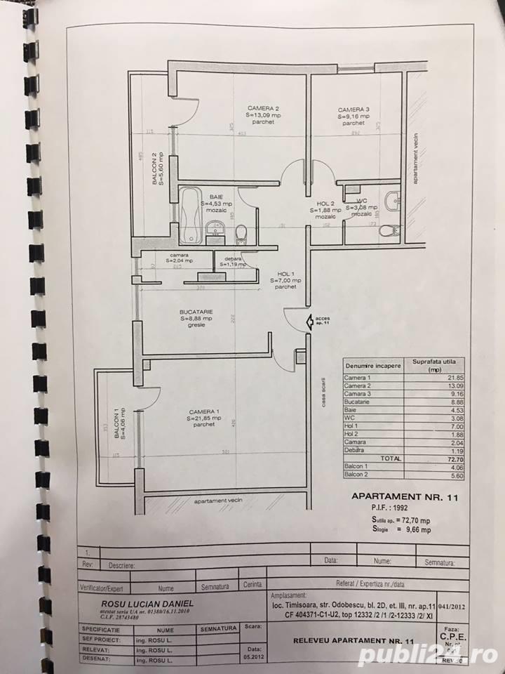 Apartment 3 camere decomandat zona Odobescu