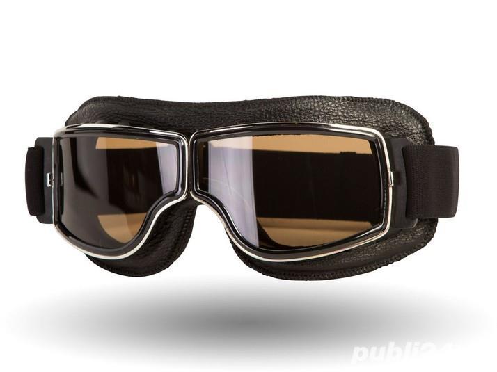 Ochelari de protectie Moto , Chopper , Cafe Racer , Retro