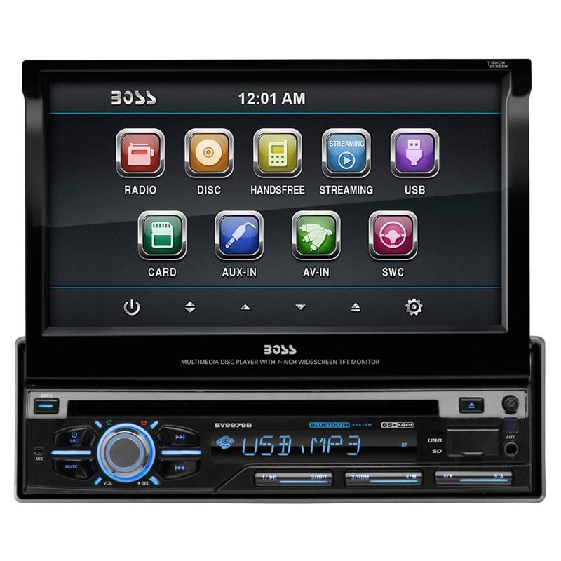 Dvd auto 1din motorizat, Bluetooth, Fata detasabila, USB, taste cu iluminare reglabila, multicolore.
