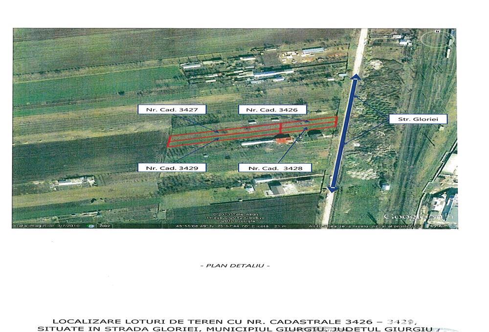 Licitatie terenuri intravilane Giurgiu - Strada Gloriei