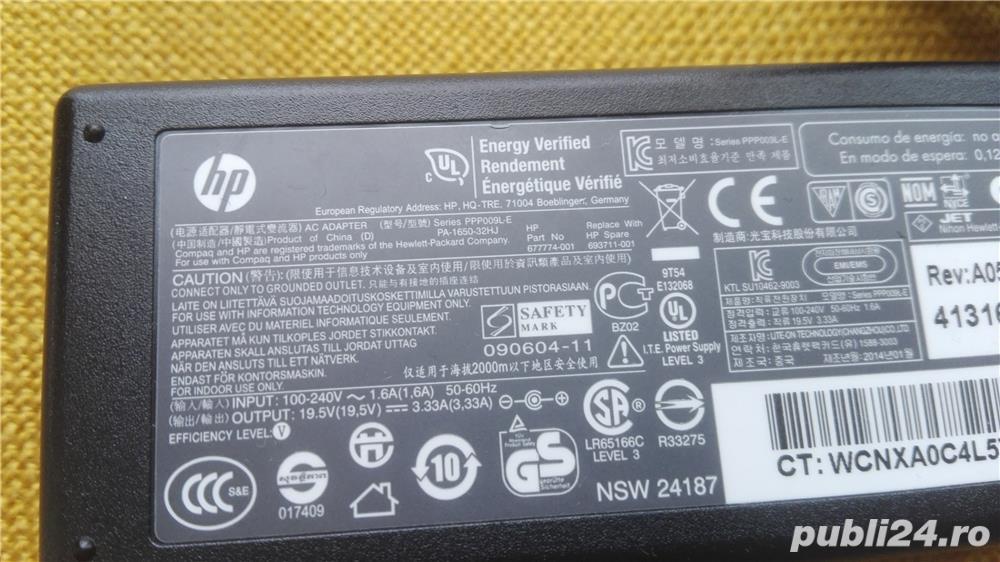 Alimentator laptop HP 18,5v 3,5A pin central