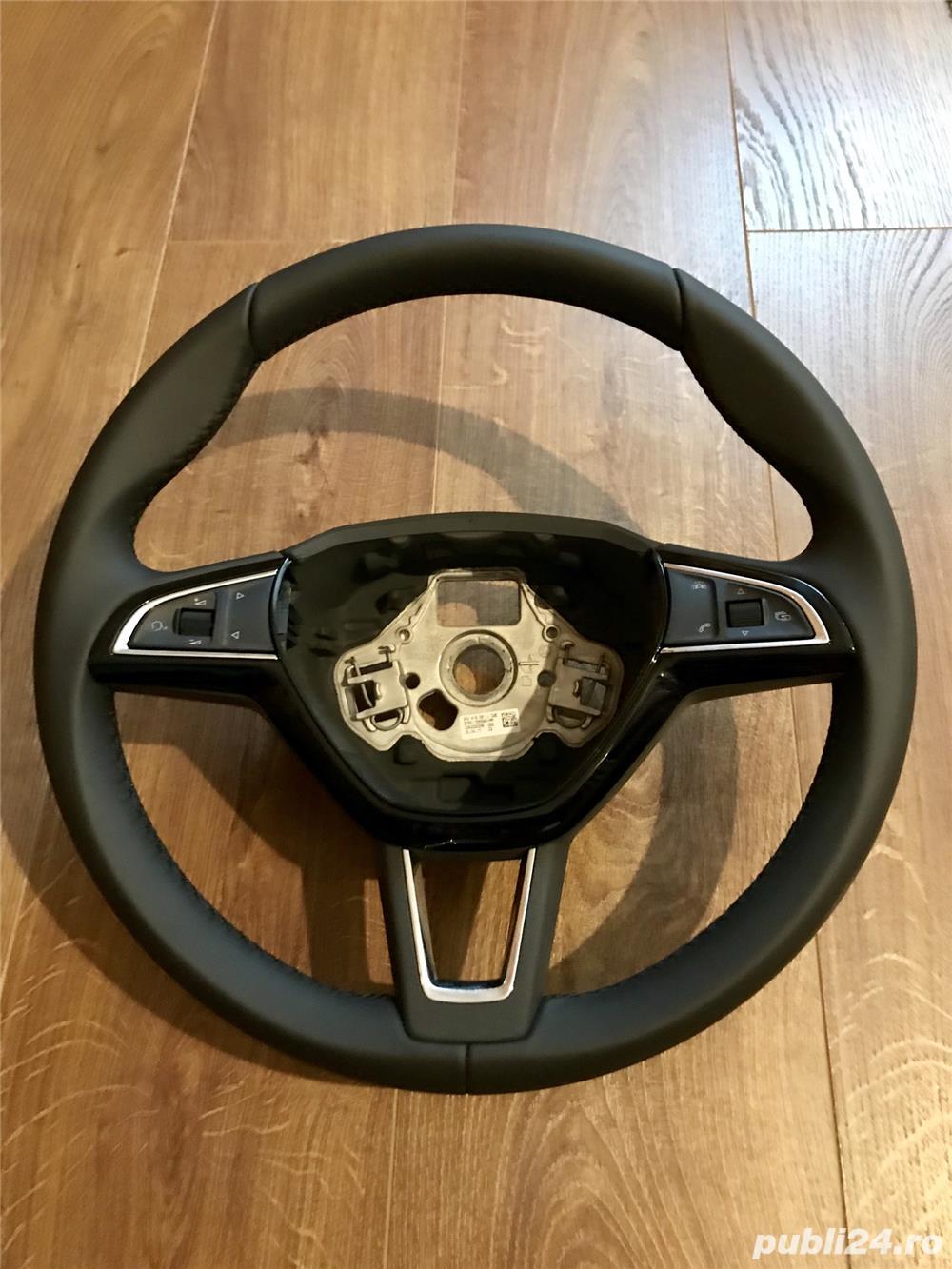 Volan piele Skoda Octavia 3 facelift