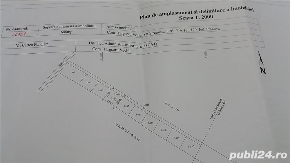 Teren intravilan Strejnic 600 m2