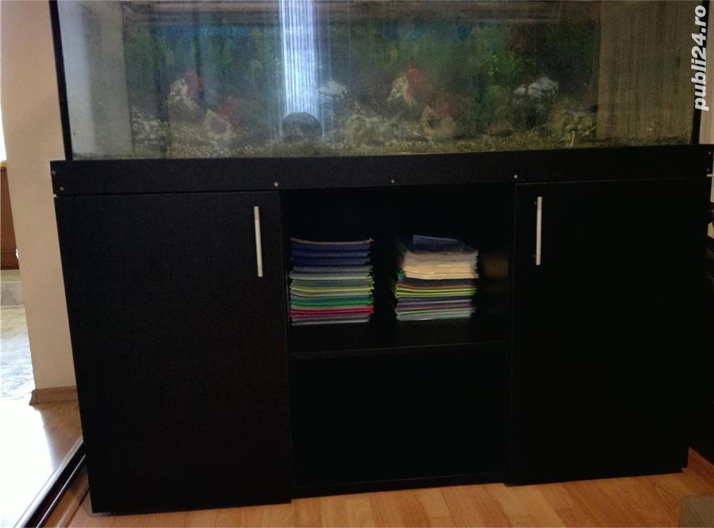 Vanzare acvariu cu mobilier si accesorii