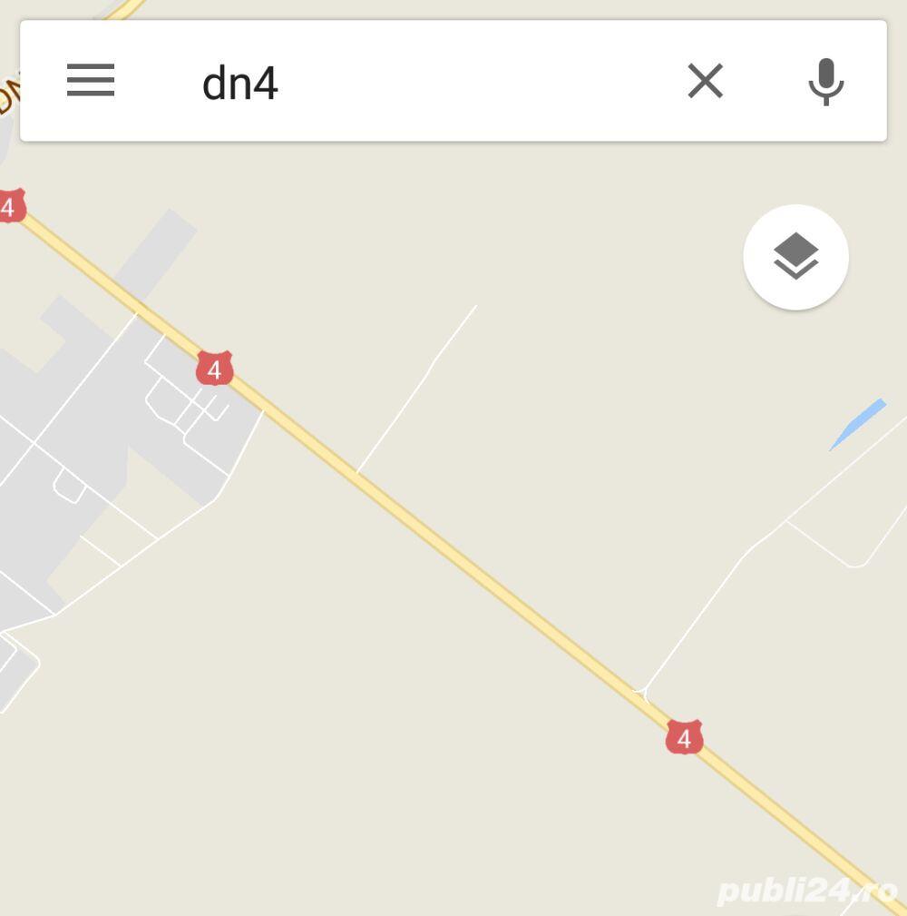 50ha teren cu deschidere de 205 la DN4 Spre Frumusani
