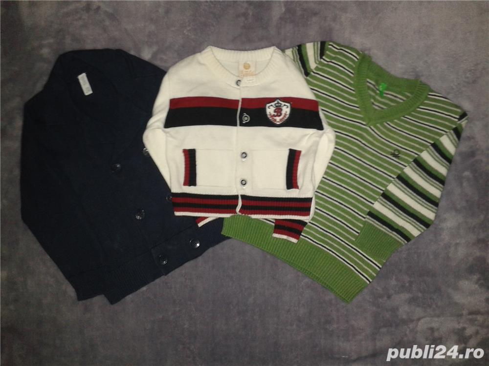pulovere si vesta baietei 6-24 luni