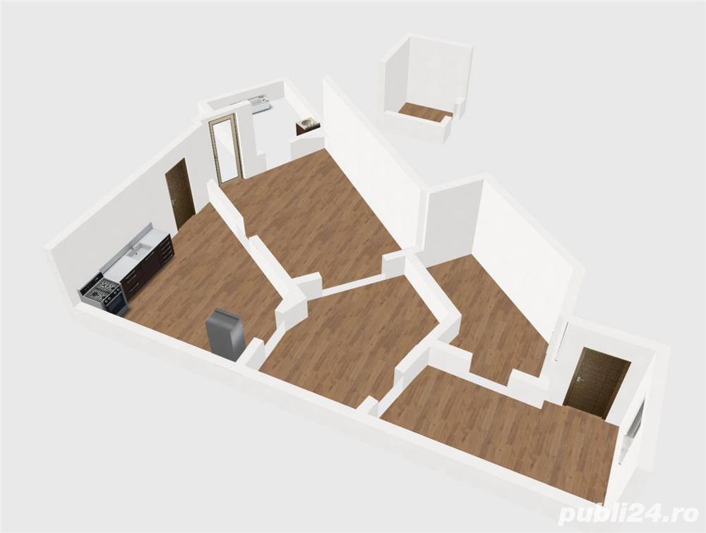 Apartament semidecomandat 3 camere zona Unirii, Marasesti, Parter