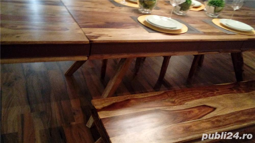 masa living lemn masiv Shan extensibila