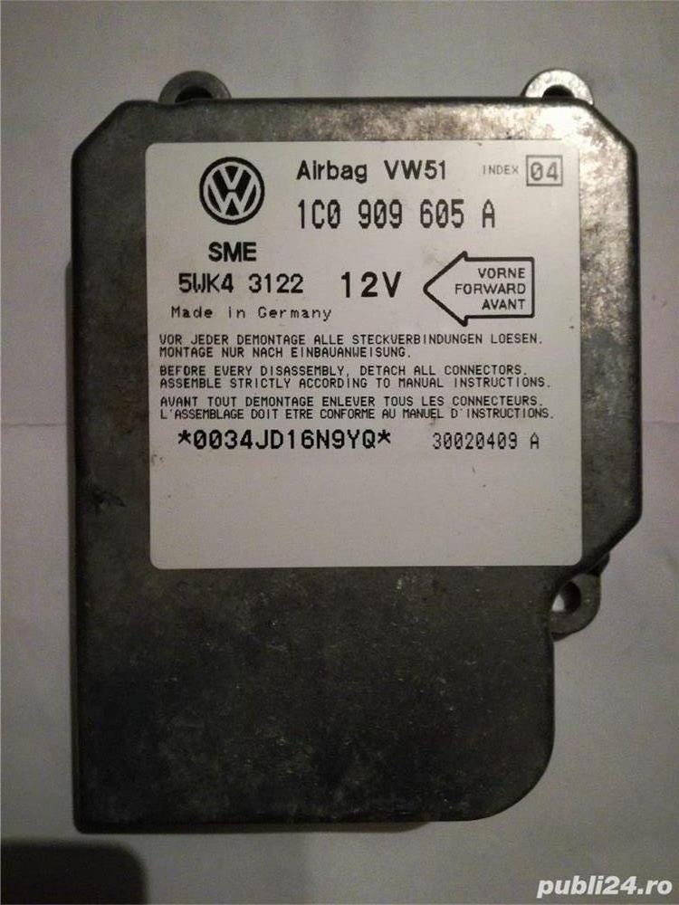 Calculator / modul airbag Audi A3 8L,  VW Bora, Golf 4, Passat 3BG / B5.5, Sharan, Skoda Octavia 1