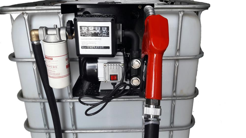 Bazin rezervor 1000 litri cu pompa motorina si filtru captator aoa