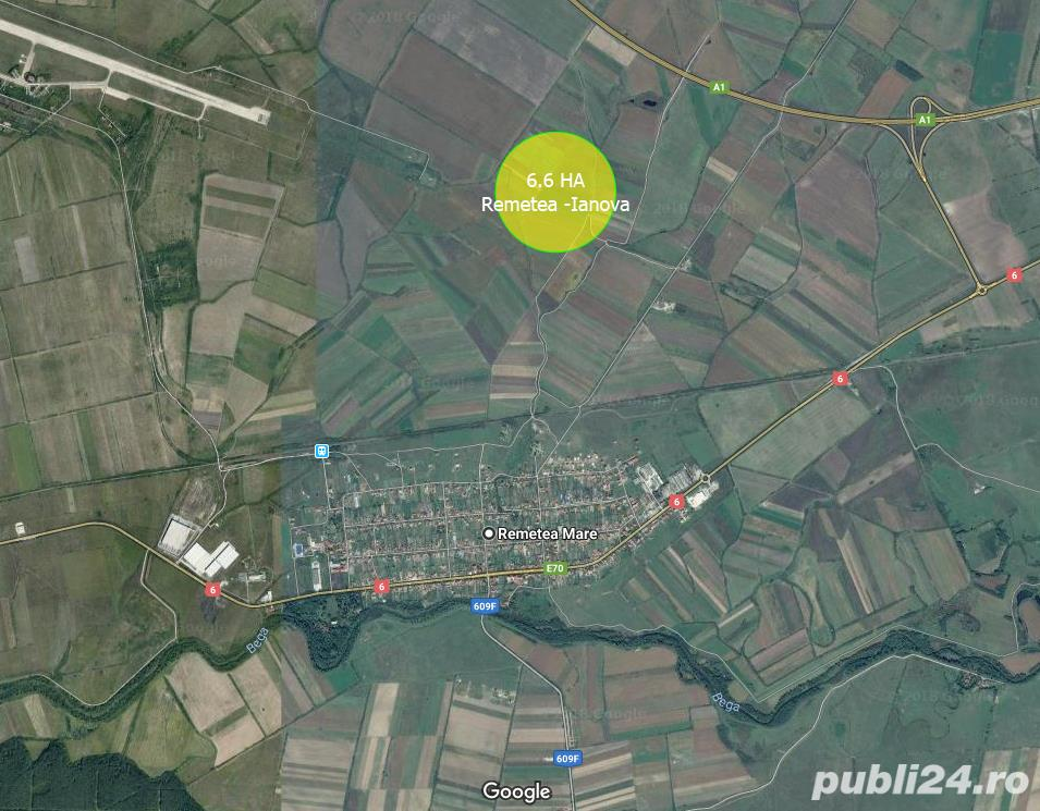De vanzare 66.000 mp in Remetea Mare