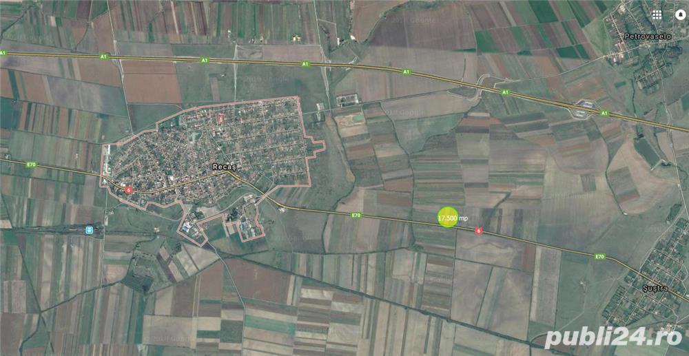 De vanzare 17.500 mp la DN6, in Recas