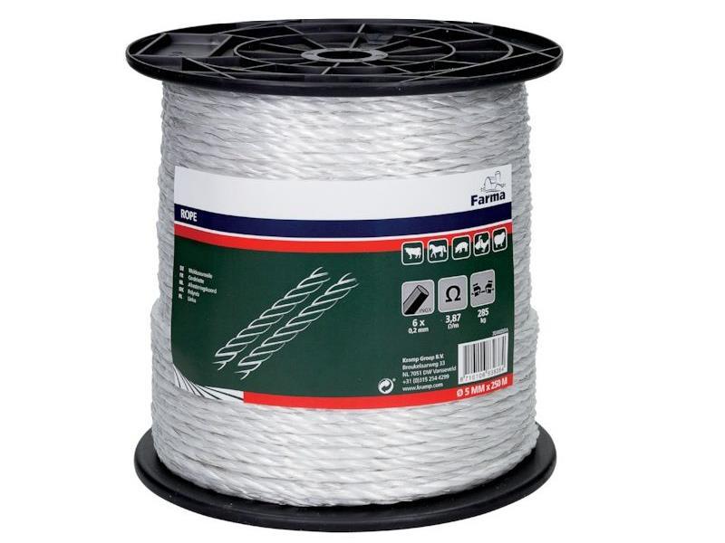 Sfoara premium gard electric, 5mm x 250m, 285kg forta rupere