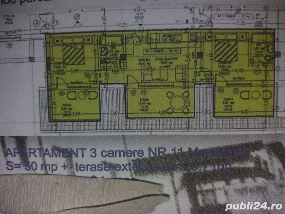 ap 3 Camere 89 mp sisesti p+1+2+3 cate un ap pe  fiecare nivel bloc nou