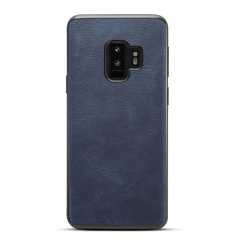 Husa Samsung S9 plus, piele, vintage, albastru, gd629