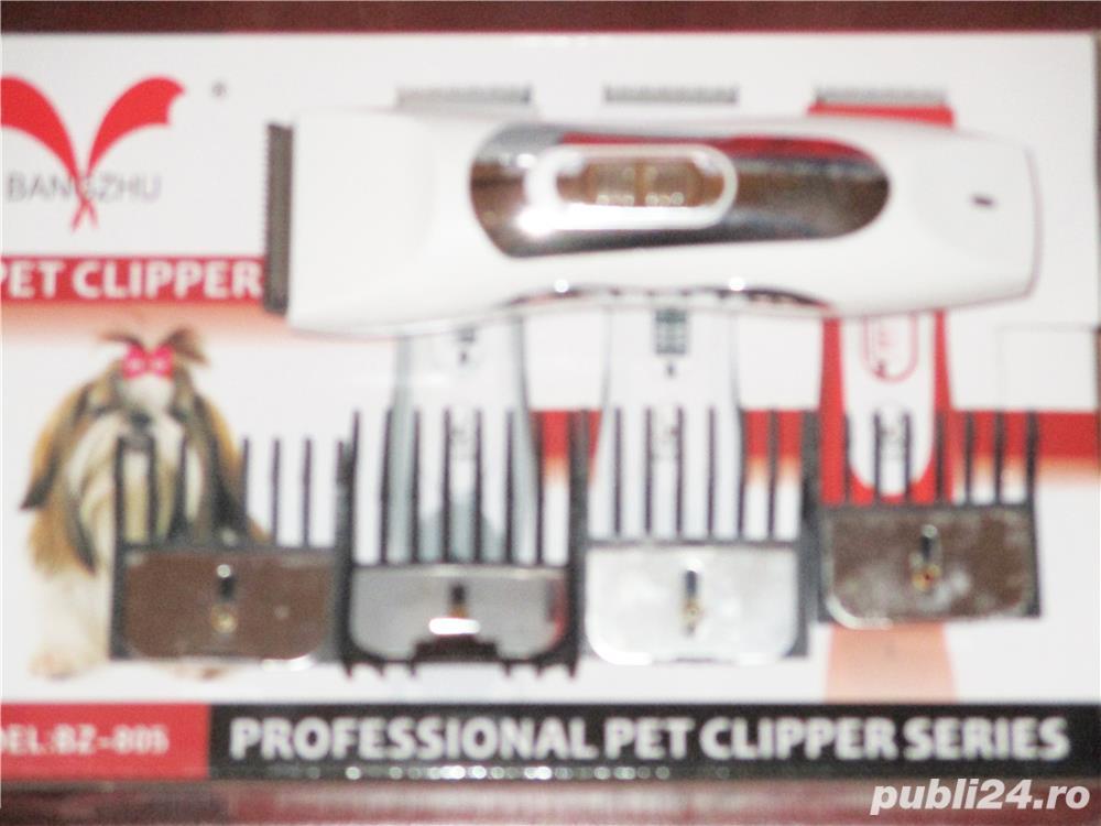 Masina masini tuns animale caini pisici Pet Clipper 2 modele cu acumulator intern, incarcare la 220V