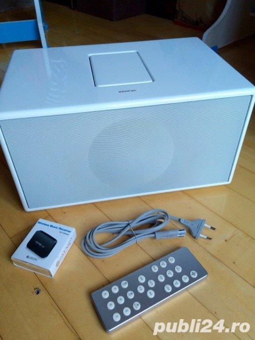 Boxa Geneva Sound System Model M+telecomanda+adaptor bluetooth,iPod,FM