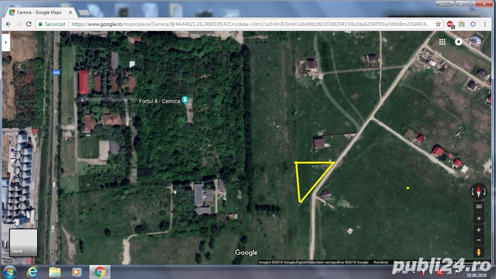 Vand 2450 mp teren intravilan in Pantelimon