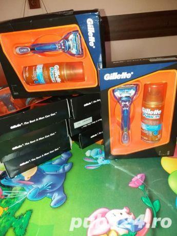 Set cadou Gillette Fusion: Aparat de ras Fusion + Gel de ras Fusion