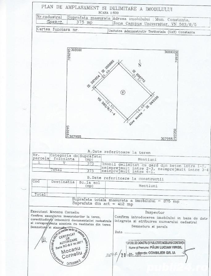 Urgent! Teren Campus Constanta cu autorizatie D+P+2+NT la 2 minute de Statiunea Mamaia